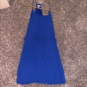Blue Shift dress with bow